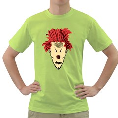 Evil Clown Hand Draw Illustration Men s T-shirt (Green)