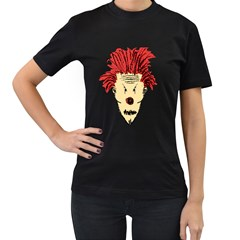 Evil Clown Hand Draw Illustration Women s Two Sided T Shirt (black)