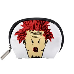 Evil Clown Hand Draw Illustration Accessory Pouch (Small)