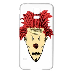 Evil Clown Hand Draw Illustration Samsung Galaxy S5 Back Case (White)