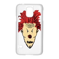 Evil Clown Hand Draw Illustration Samsung Galaxy S5 Case (White)