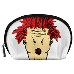 Evil Clown Hand Draw Illustration Accessory Pouch (large)