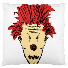 Evil Clown Hand Draw Illustration Large Flano Cushion Case (one Side)