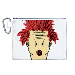 Evil Clown Hand Draw Illustration Canvas Cosmetic Bag (Large)