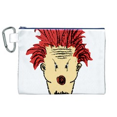 Evil Clown Hand Draw Illustration Canvas Cosmetic Bag (XL)