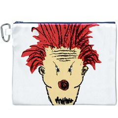 Evil Clown Hand Draw Illustration Canvas Cosmetic Bag (xxxl)