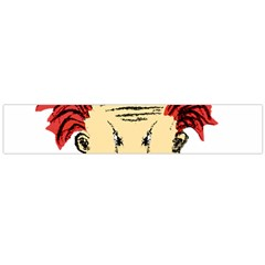 Evil Clown Hand Draw Illustration Flano Scarf (large)