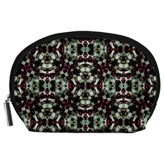 Geometric Grunge Accessory Pouch (Large)