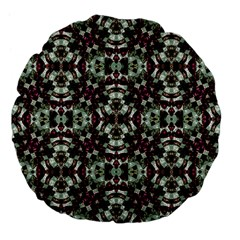 Geometric Grunge Large 18  Premium Flano Round Cushion