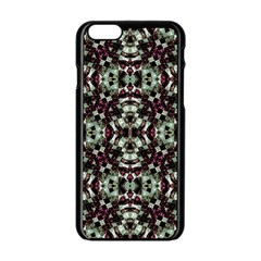 Geometric Grunge Apple iPhone 6 Black Enamel Case