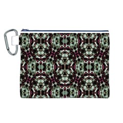 Geometric Grunge Canvas Cosmetic Bag (large)