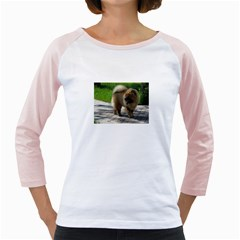 Chow Chow Full Women s Long Cap Sleeve T-Shirt (White)