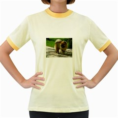 Chow Chow Full Women s Ringer T-shirt (Colored)
