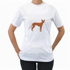 Cirneco Delletna Silo Color Women s Two-sided T-shirt (White)