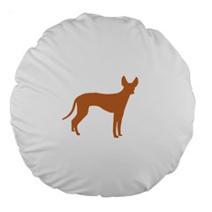 Cirneco Delletna Silo Color Large 18  Premium Flano Round Cushion