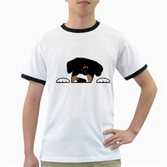 Peeping Entlebucher Men s Ringer T-shirt