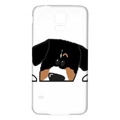 Peeping Entlebucher Samsung Galaxy S5 Back Case (White)