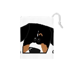 Peeping Entlebucher Drawstring Pouch (Small)