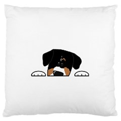 Peeping Entlebucher Standard Flano Cushion Case (One Side)