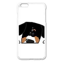 Peeping Entlebucher Apple iPhone 6 Plus Enamel White Case