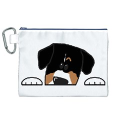 Peeping Entlebucher Canvas Cosmetic Bag (XL)