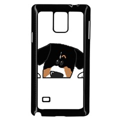 Peeping Entlebucher Samsung Galaxy Note 4 Case (Black)