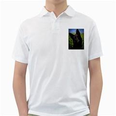 Black German Shepherd Men s Polo Shirt (White)