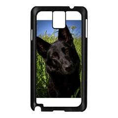 Black German Shepherd Samsung Galaxy Note 3 N9005 Case (Black)