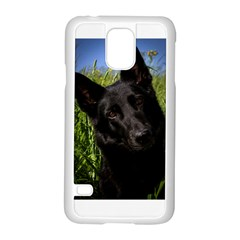 Black German Shepherd Samsung Galaxy S5 Case (White)