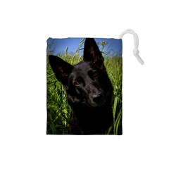 Black German Shepherd Drawstring Pouch (Small)