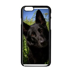 Black German Shepherd Apple Iphone 6 Black Enamel Case