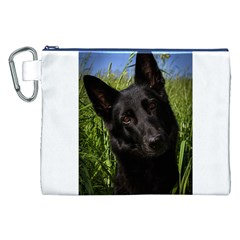 Black German Shepherd Canvas Cosmetic Bag (XXL)