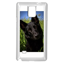 Black German Shepherd Samsung Galaxy Note 4 Case (White)