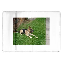 3 German Shepherd Laying Samsung Galaxy Tab 10.1  P7500 Flip Case