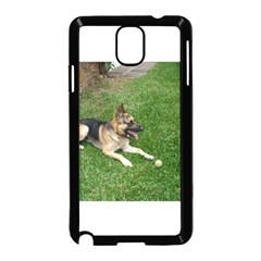 3 German Shepherd Laying Samsung Galaxy Note 3 Neo Hardshell Case (Black)