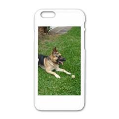 3 German Shepherd Laying Apple Iphone 6 White Enamel Case