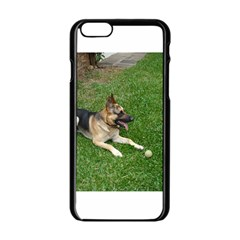 3 German Shepherd Laying Apple iPhone 6 Black Enamel Case
