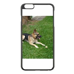 3 German Shepherd Laying Apple iPhone 6 Plus Black Enamel Case