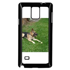 3 German Shepherd Laying Samsung Galaxy Note 4 Case (Black)