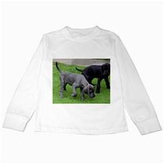 Dane Pups Kids Long Sleeve T-Shirt