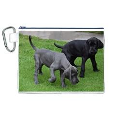 Dane Pups Canvas Cosmetic Bag (XL)