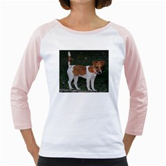 Jack Russell Terrier Full Women s Long Cap Sleeve T-Shirt (White)
