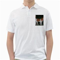 Jack Russell Terrier Full Men s Polo Shirt (white)