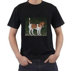 Jack Russell Terrier Full Men s Two Sided T-shirt (Black)