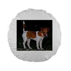 Jack Russell Terrier Full Standard 15  Premium Flano Round Cushion