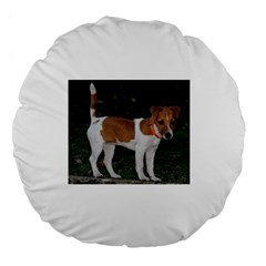 Jack Russell Terrier Full Large 18  Premium Flano Round Cushion