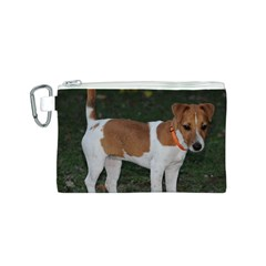 Jack Russell Terrier Full Canvas Cosmetic Bag (Small)