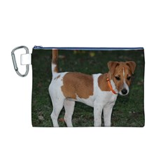 Jack Russell Terrier Full Canvas Cosmetic Bag (Medium)