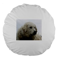 Kuvasz Large 18  Premium Flano Round Cushion