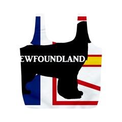 Newfoundland Name Silo On Flag Reusable Bag (M)